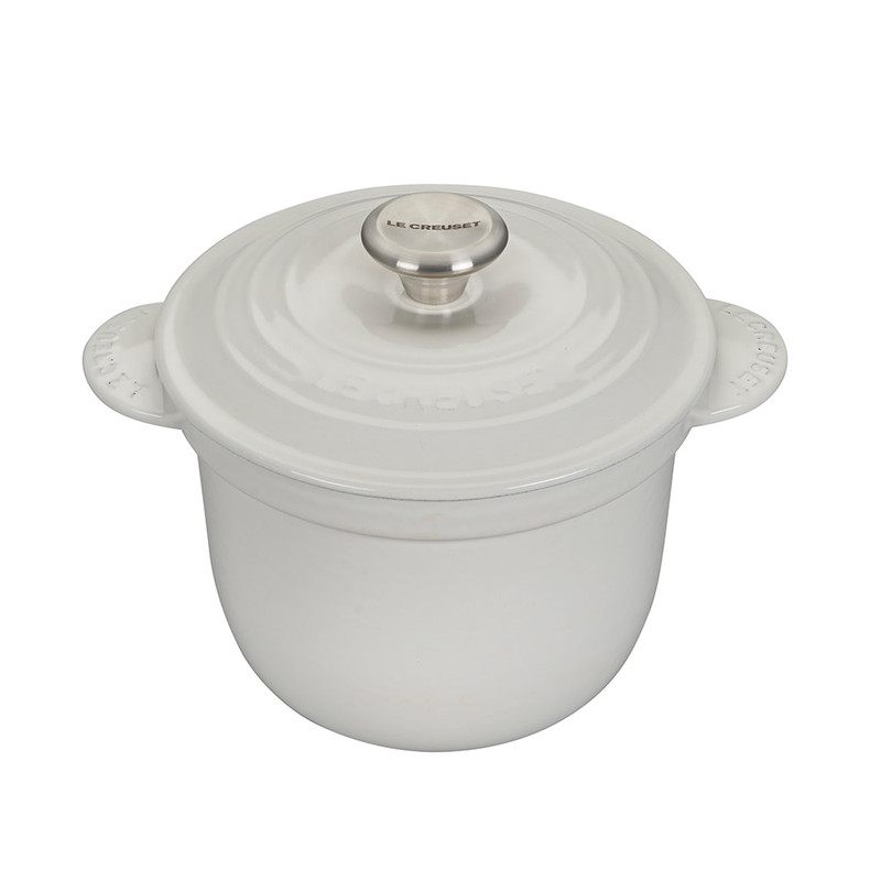 Le Creuset Cast Iron Rice Pot in White