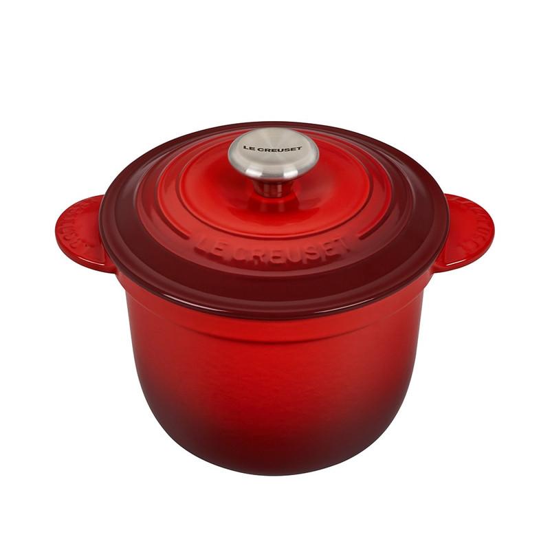 Le Creuset Cast Iron Rice Pot in Cerise