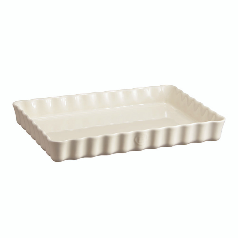 Emile Henry Deep Rectangular Tart Dish in Clay
