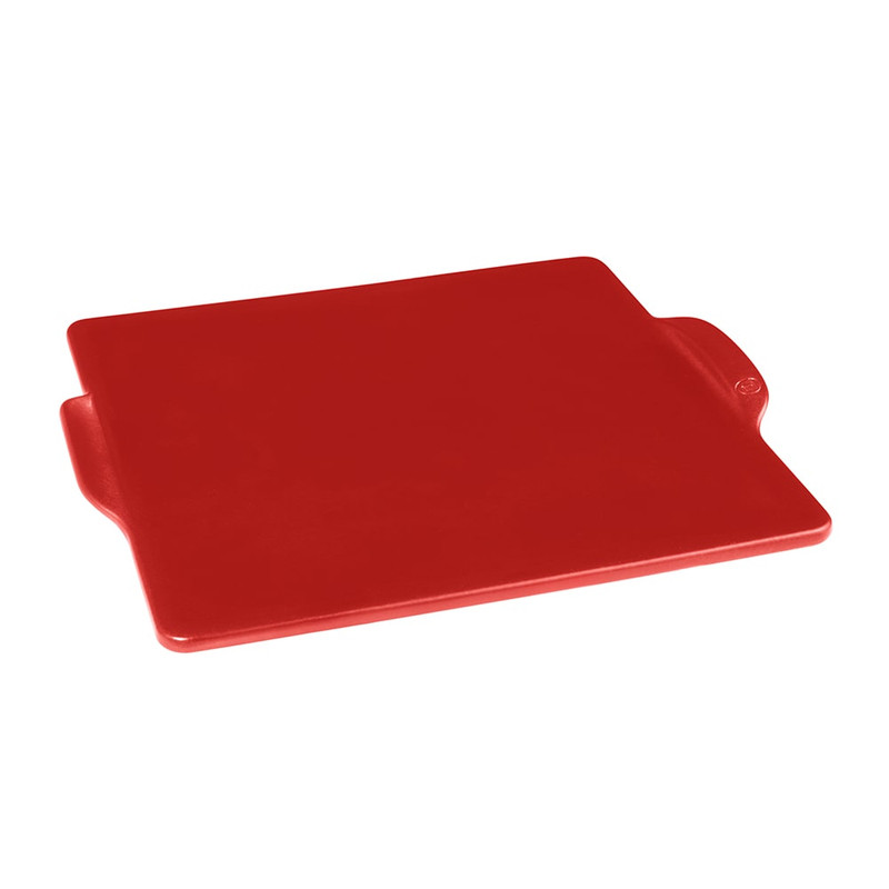 Emile Henry Square Pizza Stone in Burgundy