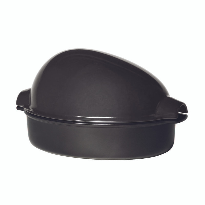 Emile Henry Large Roaster in Charcoal