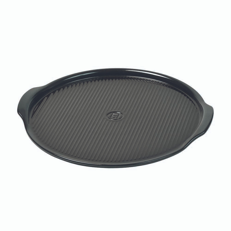 Emile Henry Ribbed Pizza Stone in Charcoal