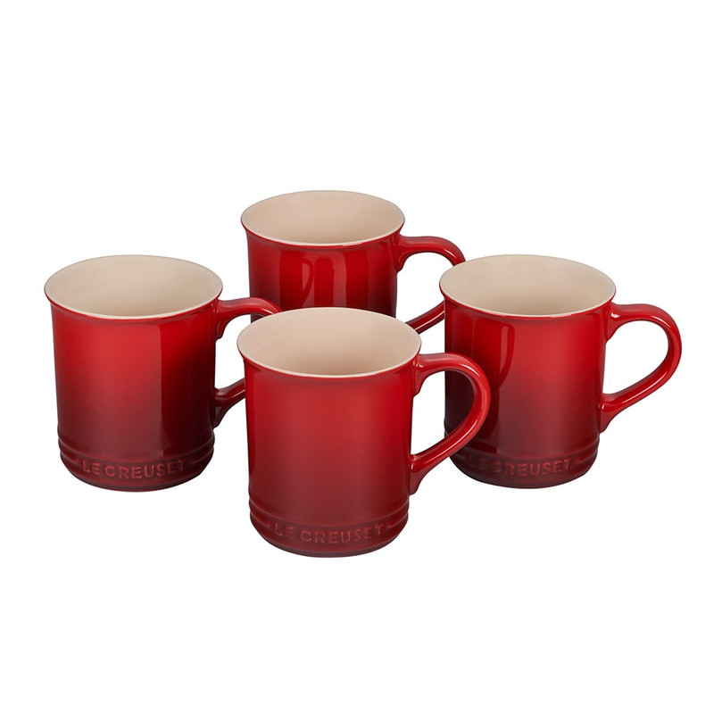 Le Creuset Mugs in Cerise