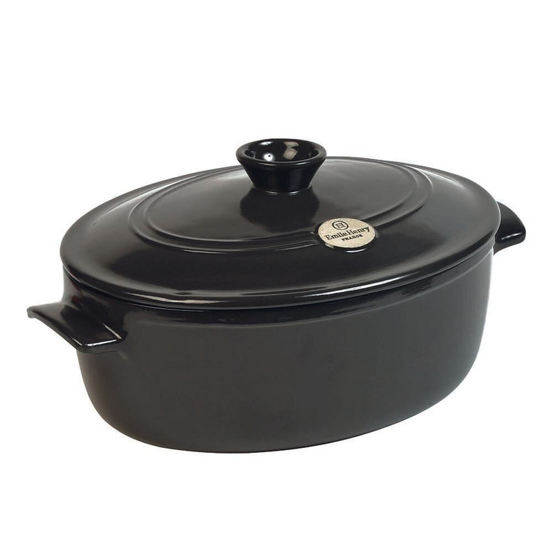 Emile Henry Oval Dutch Oven in Charcoal
