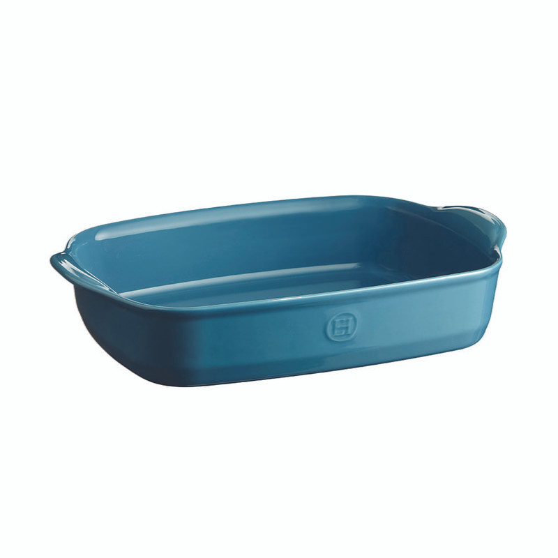 Emile Henry Ultime Medium Rectangular Baking Dish in Mediterranean Blue