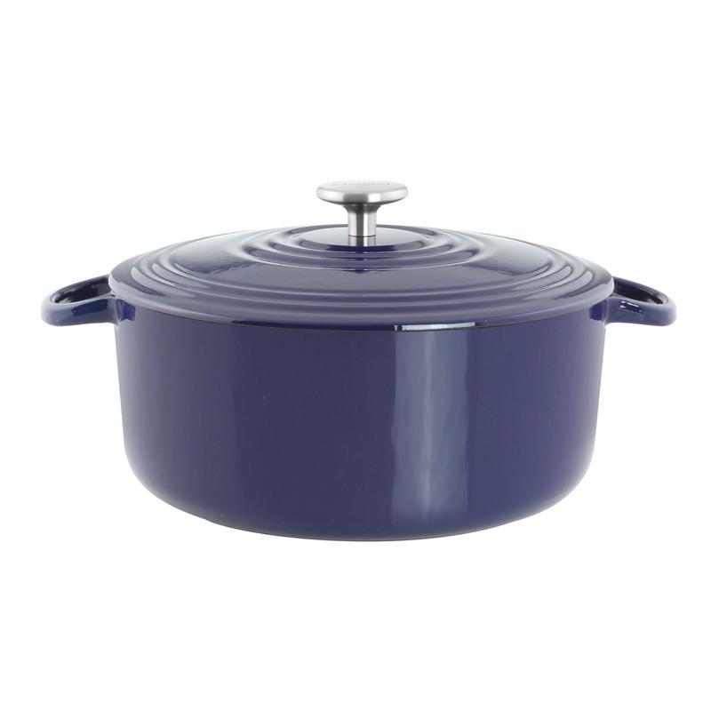 Chantal Cast Iron 7-Quart Dutch Oven in Cobalt Blue