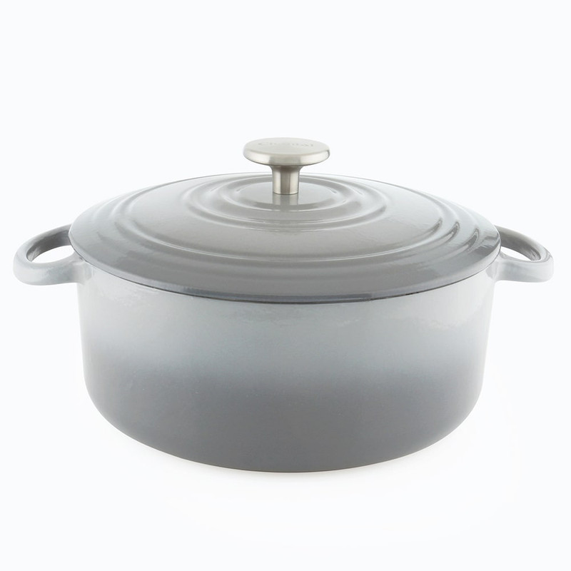 Chantal Cast Iron 5-Quart Dutch Oven in Fade Grey