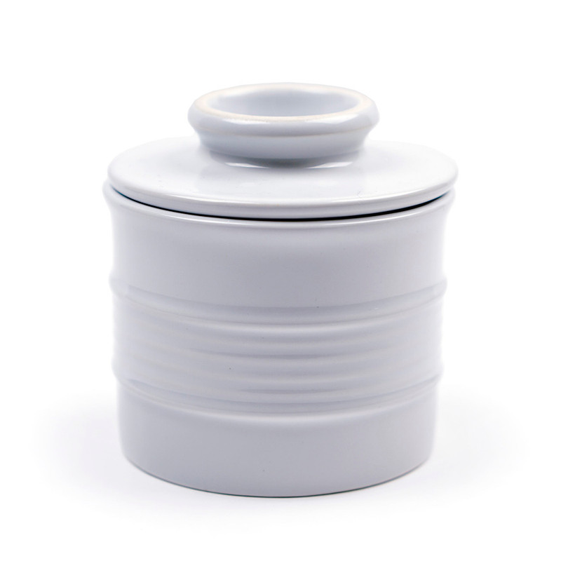 RSVP Endurance White Stoneware Butter Pot