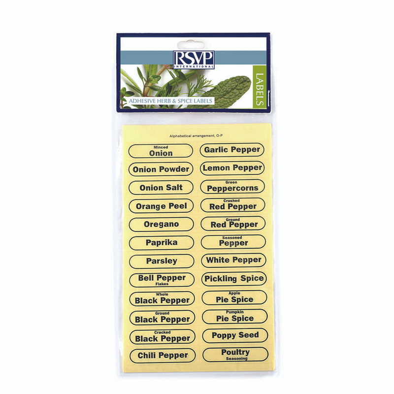 RSVP Clear Spice Labels