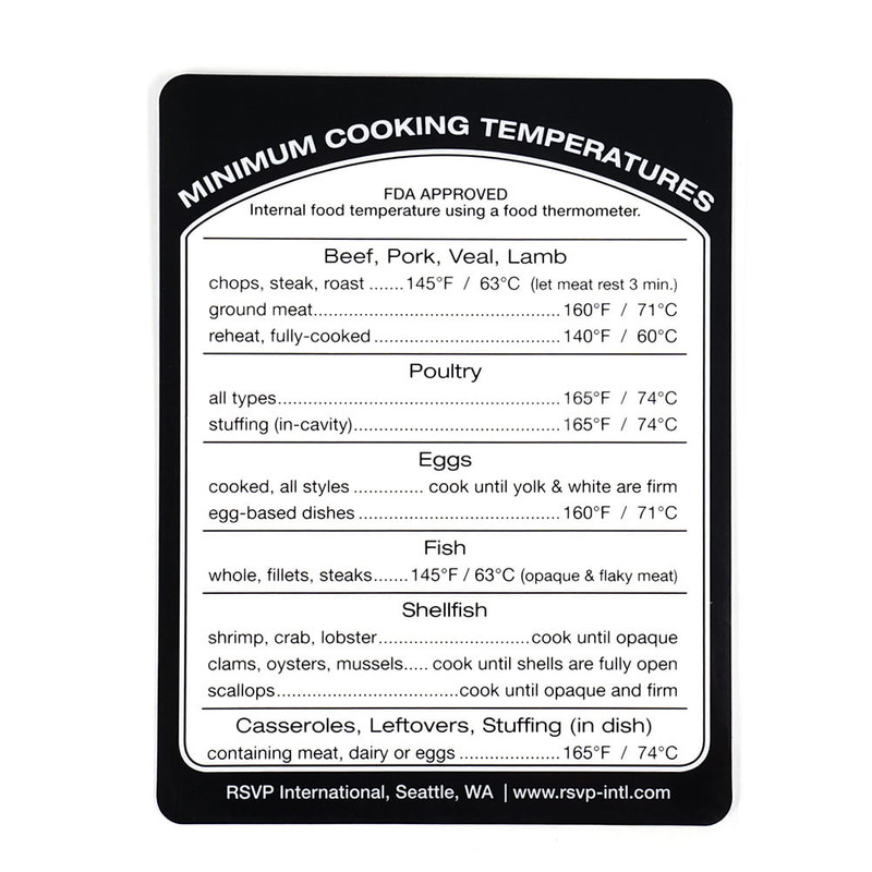 RSVP Removable Cooking Temperature Label