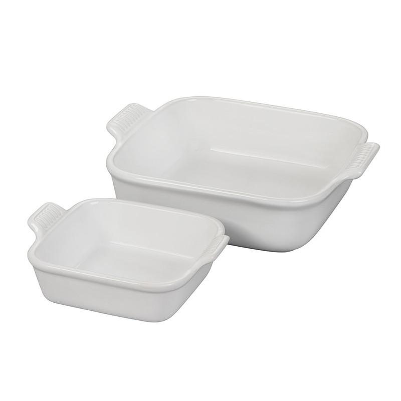 Le Creuset Heritage Square Baking Dish Set in White