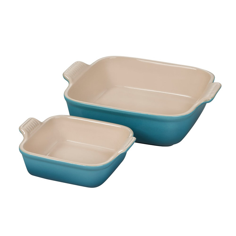 Le Creuset Heritage Square Baking Dish Set in Caribbean