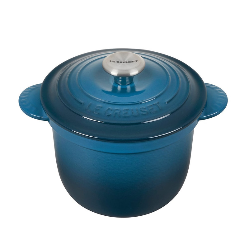 Le Creuset Cast Iron Rice Pot in Deep Teal