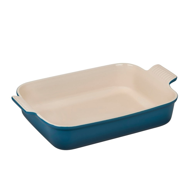 Le Creuset Heritage Rectangular Dish in Deep Teal