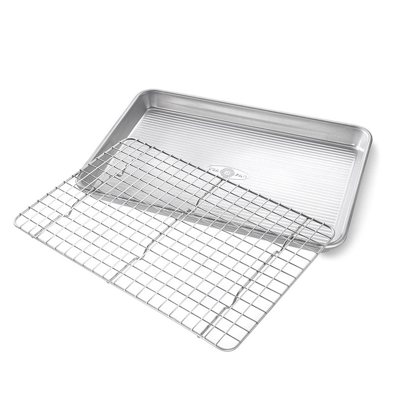 USA Pan Quarter Sheet Cooling Rack and Pan Set