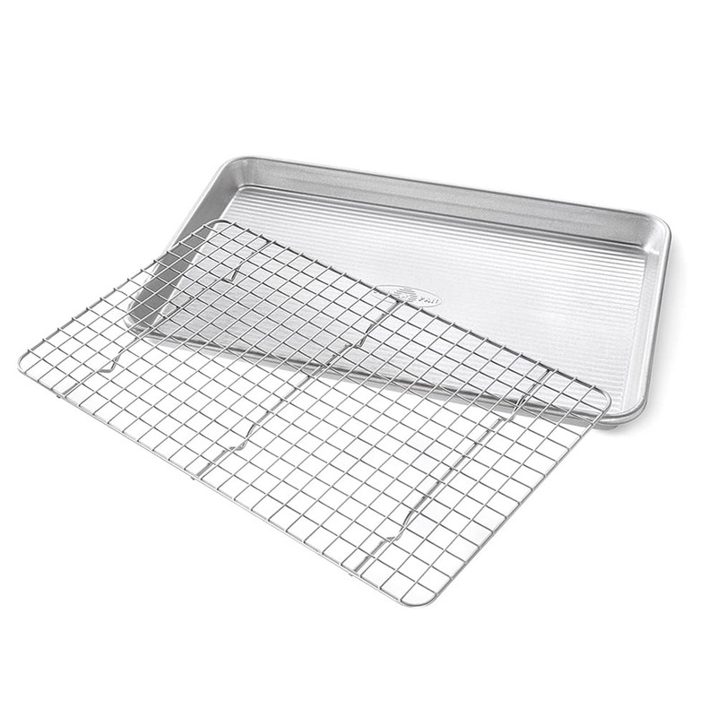 USA Pan Jelly Roll Cooling Rack and Pan Set