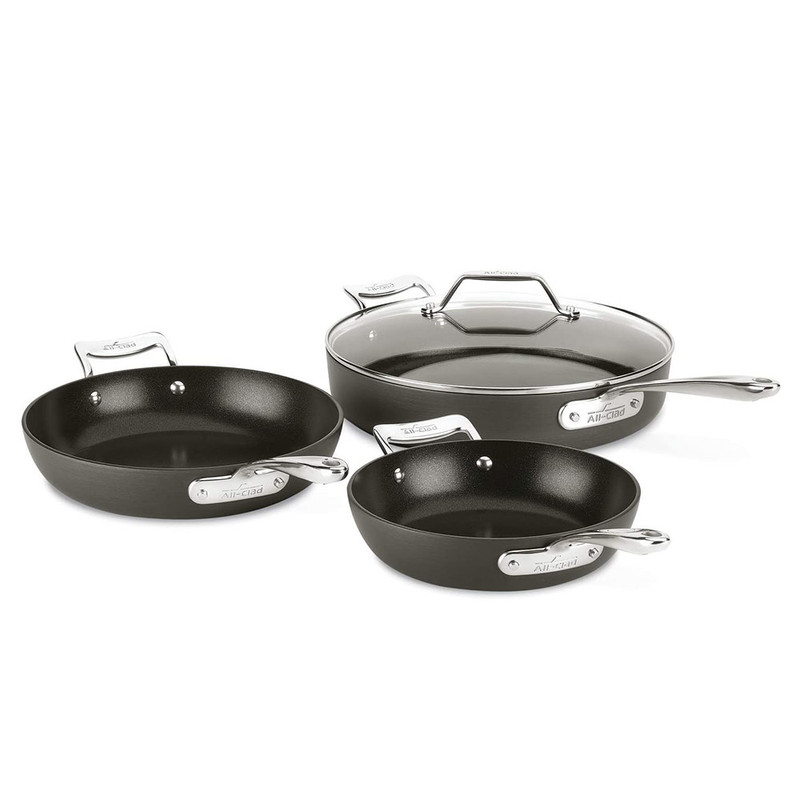All-Clad Essentials Nonstick 4-Piece Skillet Set