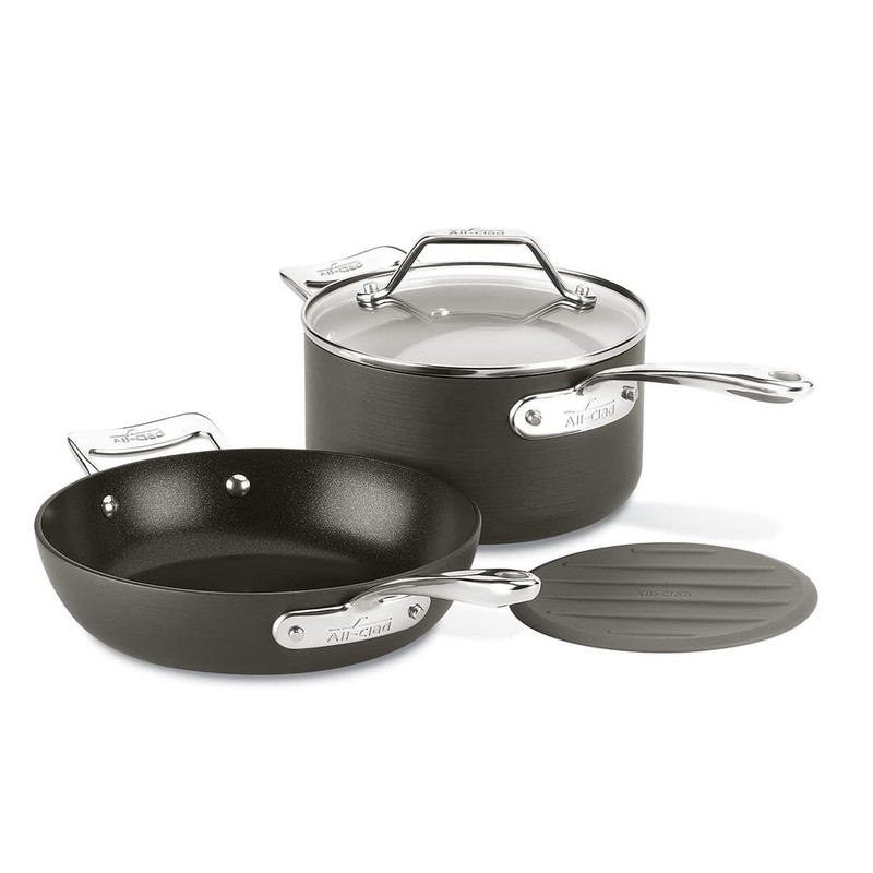 All-Clad Essentials Nonstick Small Fry Pan and Sauce Pan Set