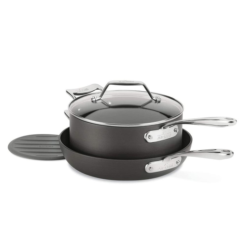 All-Clad Essentials Nonstick Large Fry Pan and Sauce Pan Set