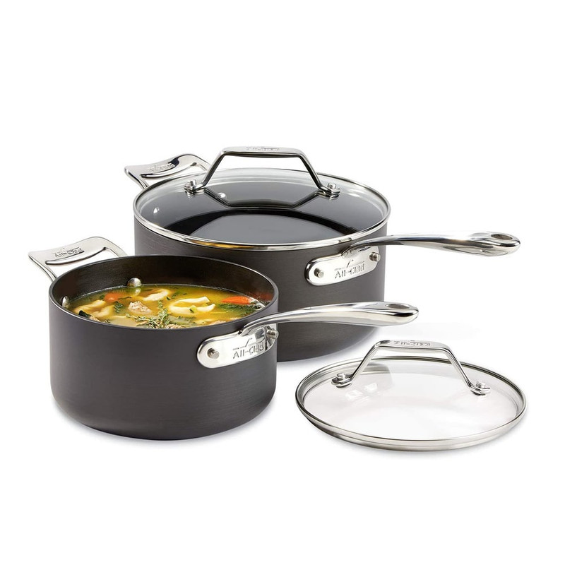 All-Clad Essentials Nonstick 2-Piece Sauce Pan Set