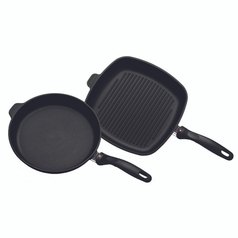 Swiss Diamond XD Nonstick Fry Pan and Grill Pan Set