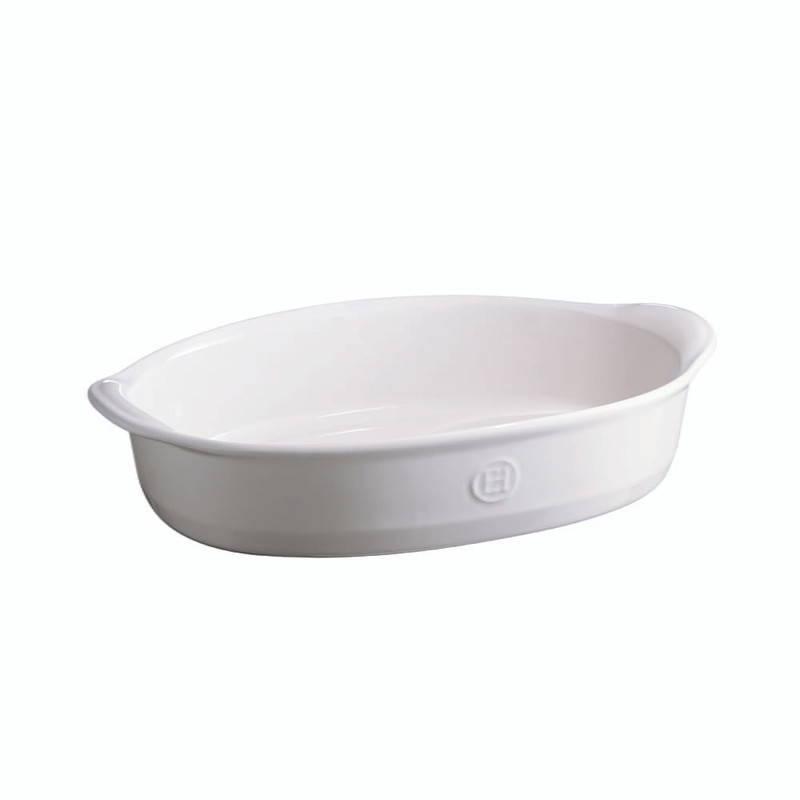 Emile Henry Ultime Medium Oval Baking Dish in Flour