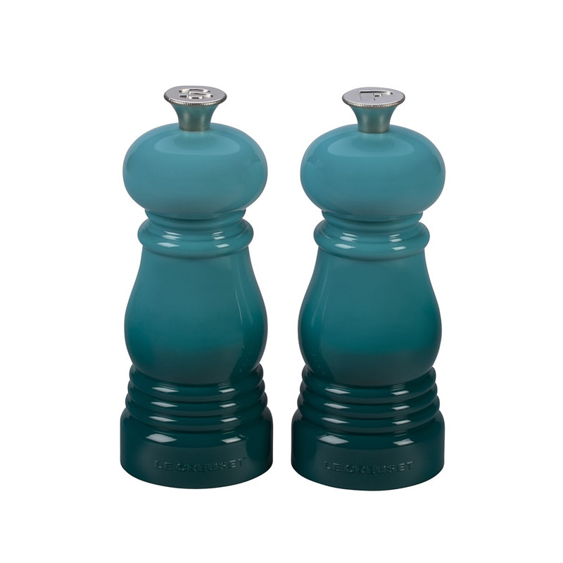 Le Creuset Petite Salt and Pepper Mill Set in Caribbean Blue