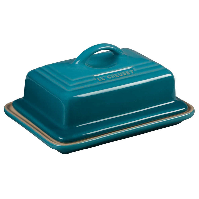 Le Creuset Heritage Butter Dish in Caribbean