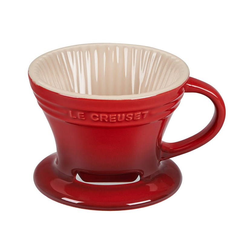 Le Creuset Pour Over Coffee Cone in Cerise