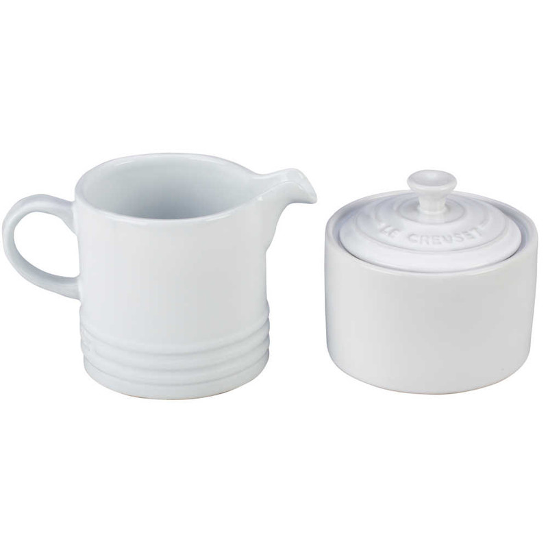 Le Creuset Cream and Sugar Set in White