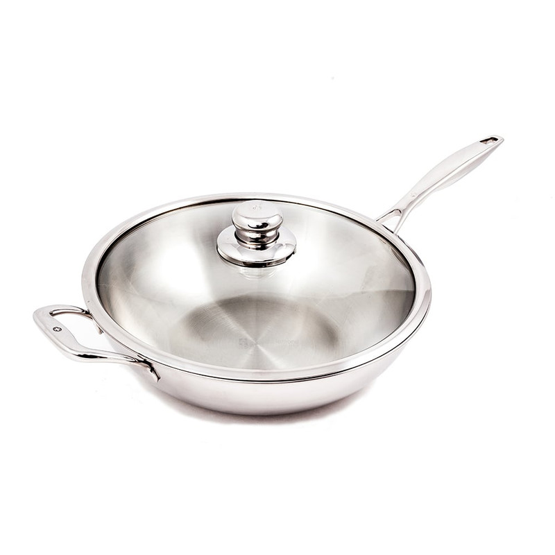Swiss Diamond Premium Clad Stainless Wok