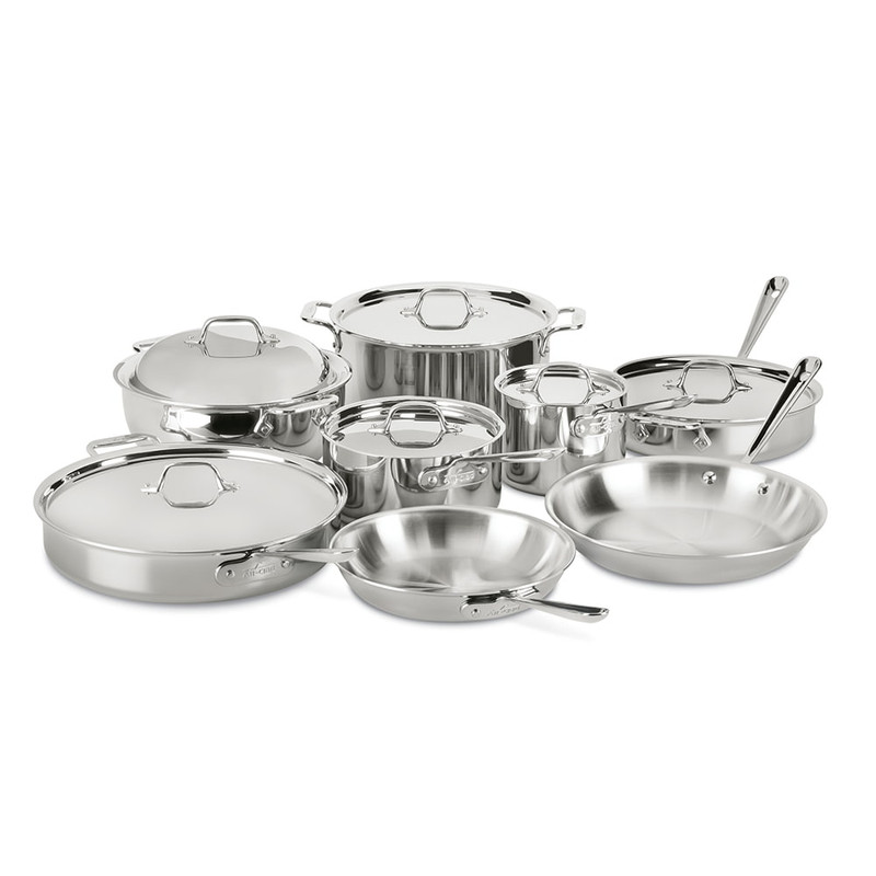 All-Clad Stainless Steel 14-Piece Cookware Set