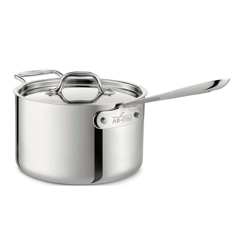 All-Clad Stainless Steel 4-Quart Sauce Pan With Loop Handle