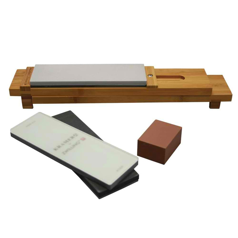 Kramer by Zwilling 6-Piece Glass Water Stone Sharpening Set