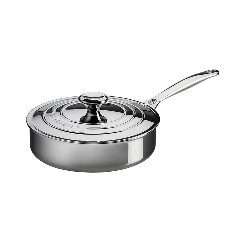 Le Creuset Stainless Steel 3-Quart Saute Pan