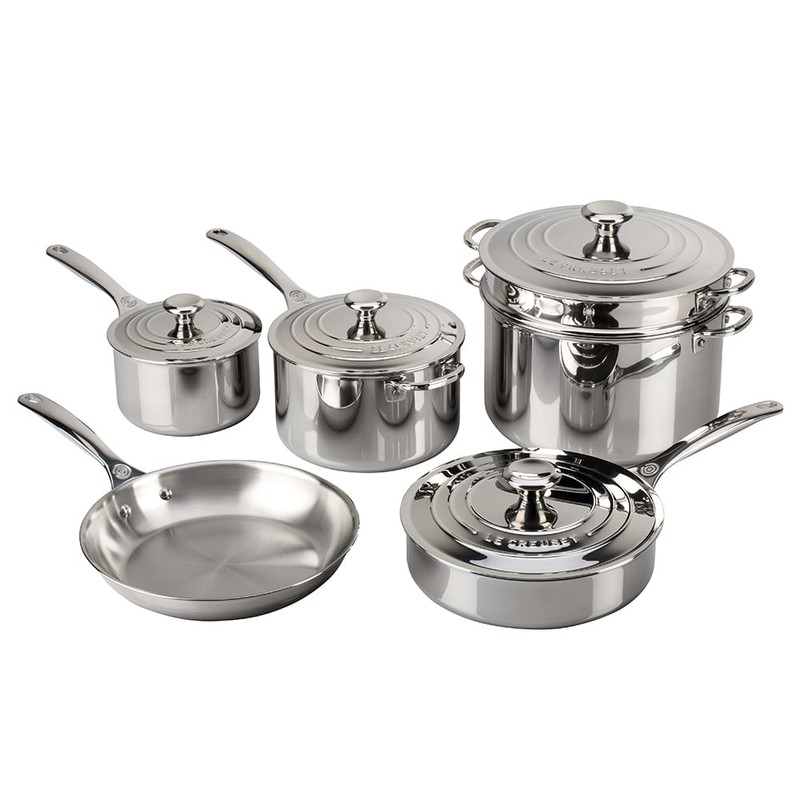 Le Creuset 10-Piece Stainless Steel Set