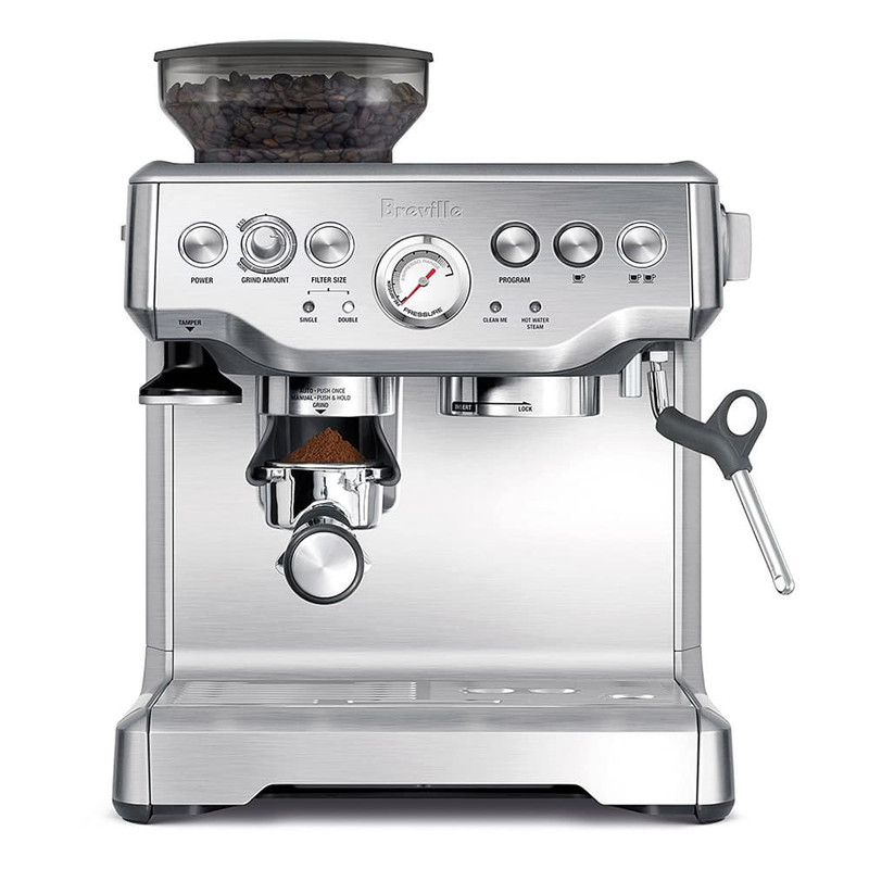 Breville Barista Express Espresso Machine in Silver
