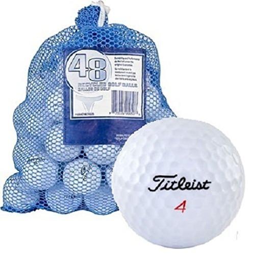 48 Pc Mesh Bag Used  Golf Balls