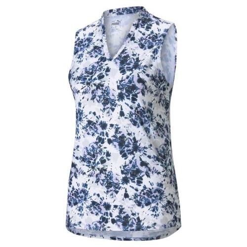 Puma Cloudspun Floral Tie Dye Sleeveless Polo