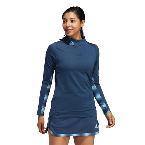 Adidas Womens Heat RDY Long Sleeve Mock Tee