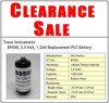 Texas Instruments B9508, Replacement PLC Battery, Clearance Sale