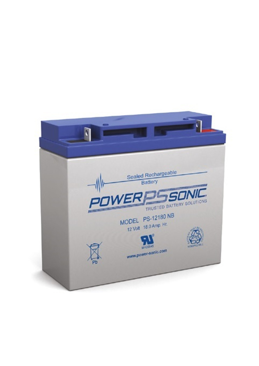 Power Sonic - PS-12180NB - 12 Volt, 18 AH Rechargeable SLA Battery