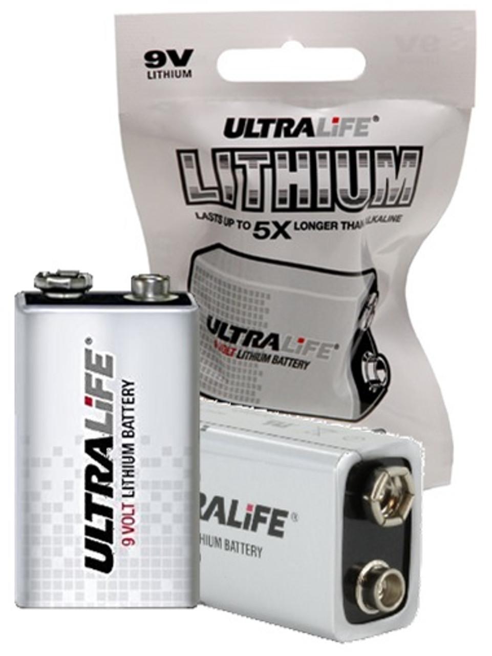 "Ultralife U9VLJPFP, 9 Volt, 1.2 Ah, ""9 Volt"" Lithium Battery"