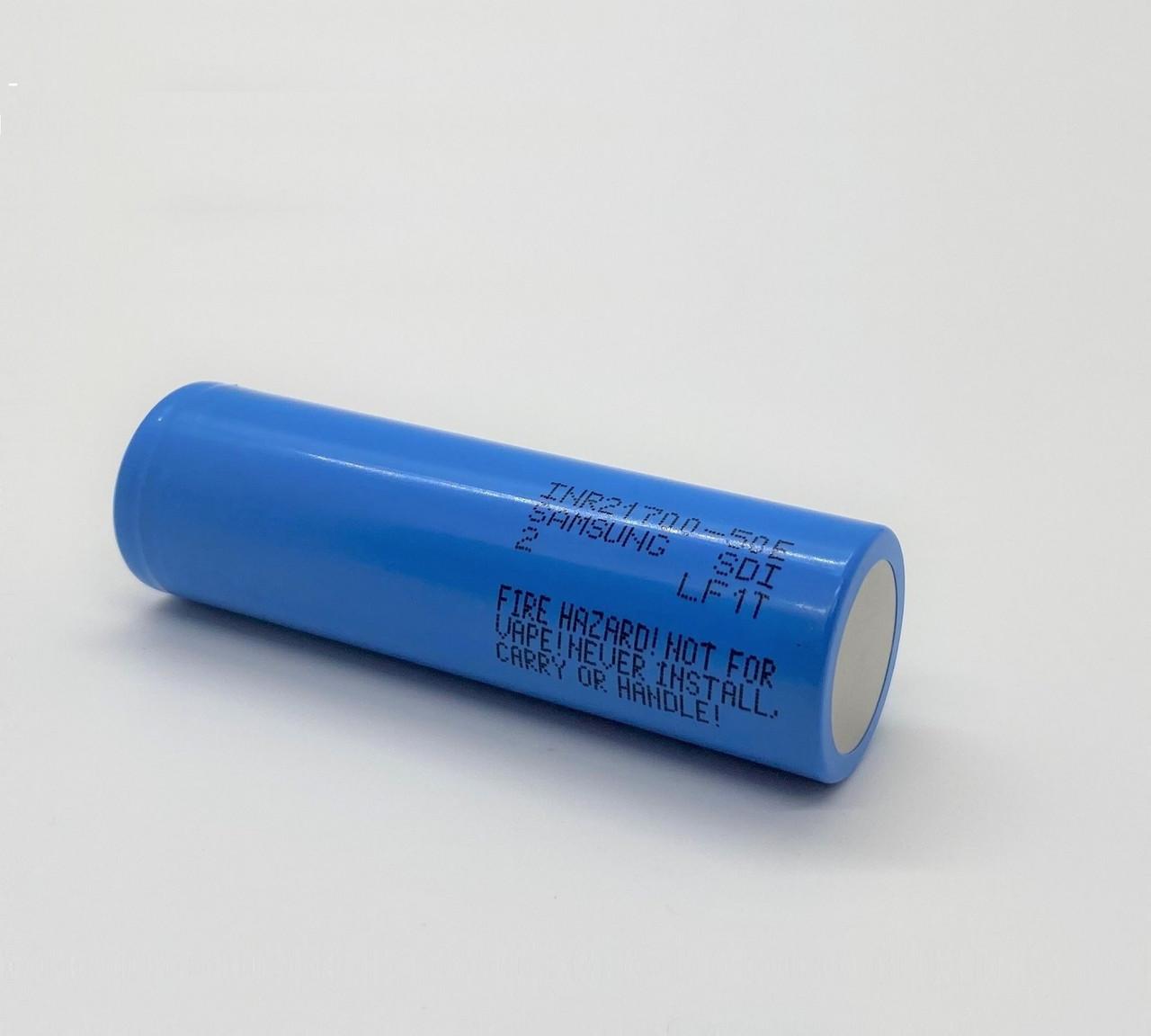 Samsung SDI INR21700-50E, 3.6 Volt, 5000mAh Lithium-Ion Rechargeable Battery