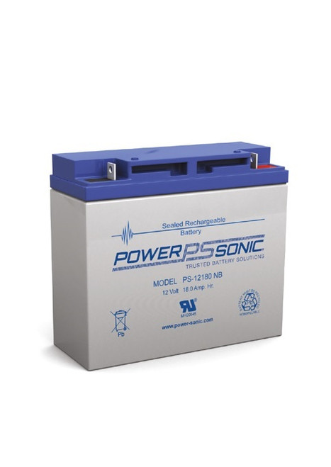 Power Sonic - PS-12180NB - 12 Volt, 18 AH Rechargeable SLA Battery
