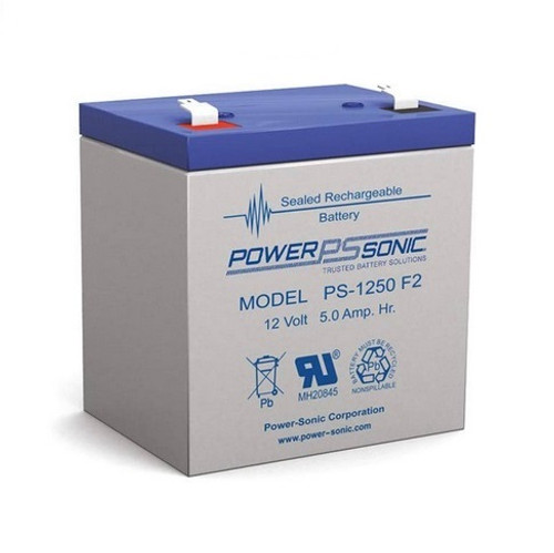 Power Sonic PS-1250F2, 12 Volt, 5AH Rechargeable SLA Battery