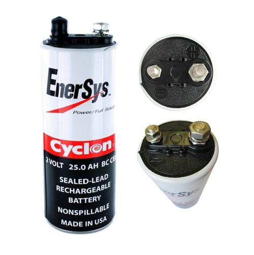 """Enersys Cyclon, 0820-0004, 2 Volt, 25 Ah SLA """"BC"""" Cell"""