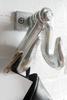 Double Galvanized Pipe Hook rustic industrial farmhouse Wall Art, Kitchen or Bathroom fixture, industrial pipe coat hook, Steampunk towel hook, coat rack, hanger, entryway hat hook