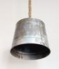 "Rustic Rope & Large 12"" Bucket Industrial Farmhouse Kitchen Island Bar Pendant Light, Rustic Metal Galvanized Bucket Steel hanging pendent rope light"