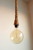3ft Rope Pendant - Hand wrapped in rope for pendent lighting, nautical rope light, Kistchen Bar Light jute twine rope, Rope swag hanging light